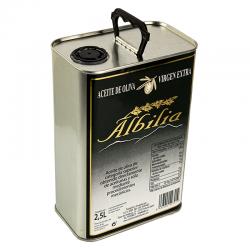 AO Virgen Extra lata 2,5 litros caja de 6 unidades Albilia